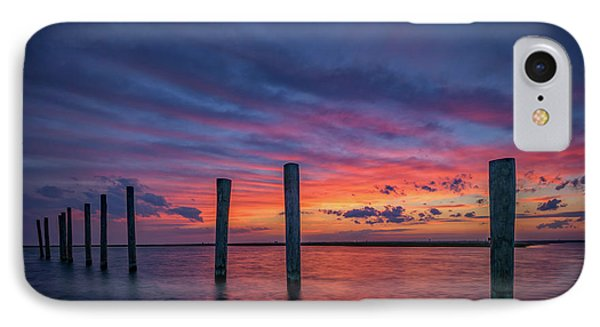 Sunset At Cedar Beach Marina IPhone Case by Rick Berk