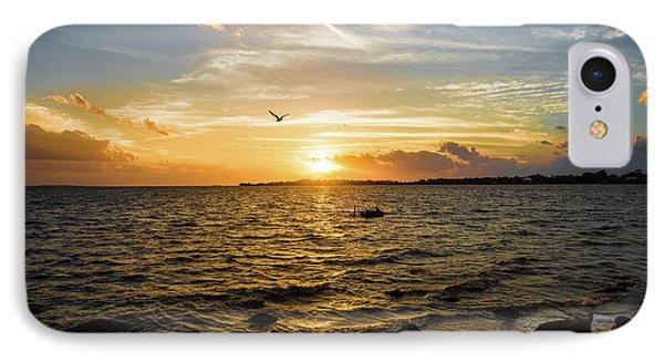 Sunset At Cedar Key IPhone Case by Rebecca Hiatt
