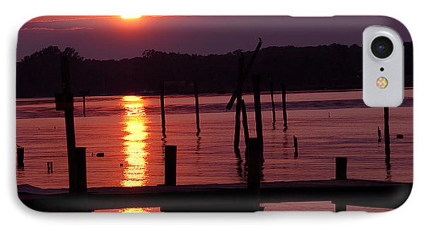 Sunset At Colonial Beach IPhone Case by Clayton Bruster