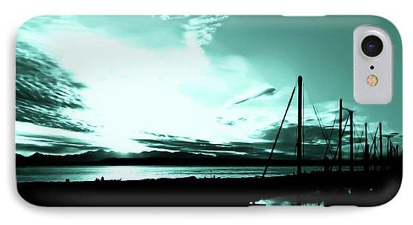 Sunset At Edmonds Washington Boat Marina 1 Phone Case by Eddie Eastwood
