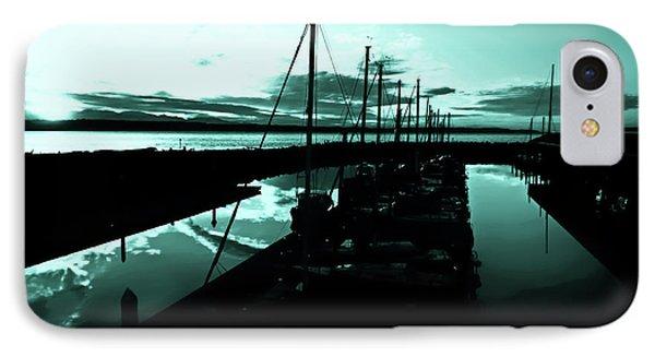 Sunset At Edmonds Washington Boat Marina 2 Phone Case by Eddie Eastwood