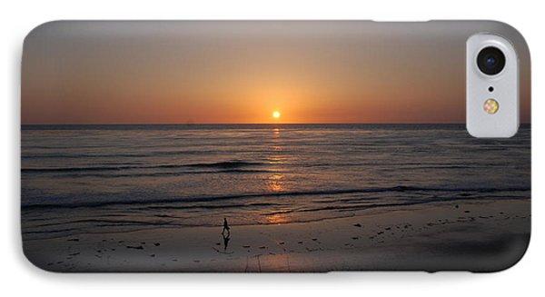 Sunset At Eljio Beach California Phone Case by Susanne Van Hulst