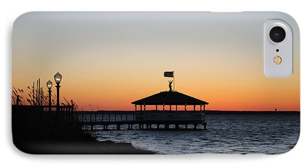 Sunset At Fagers Island Gazebo IPhone Case