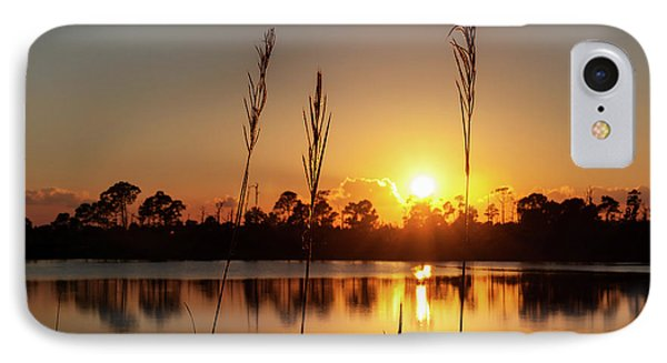 IPhone Case featuring the photograph Sunset At Gator Hole 3 by Arthur Dodd