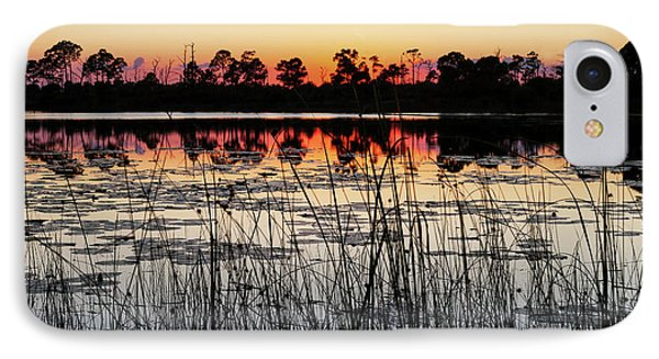 IPhone Case featuring the photograph Sunset At Gator Hole by Arthur Dodd