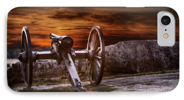 Sunset At Gettysburg IPhone Case by Randy Steele