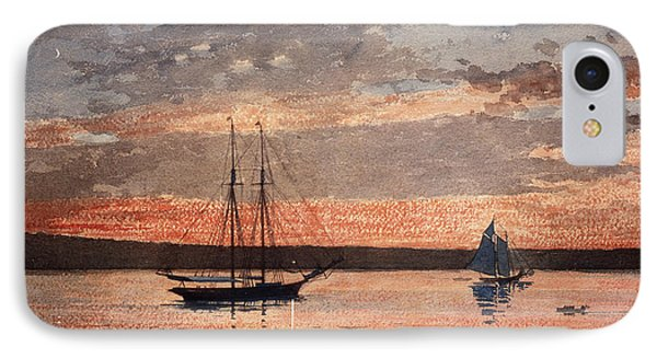 Sunset At Gloucester IPhone Case by Winslow Homer
