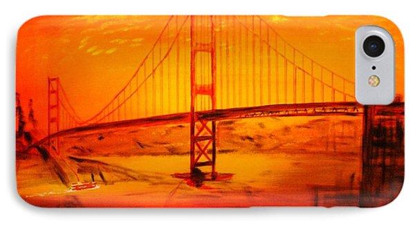 Sunset At Golden Gate Phone Case by Helmut Rottler