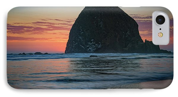 IPhone Case featuring the photograph Sunset At Haystack Rock by Rick Berk