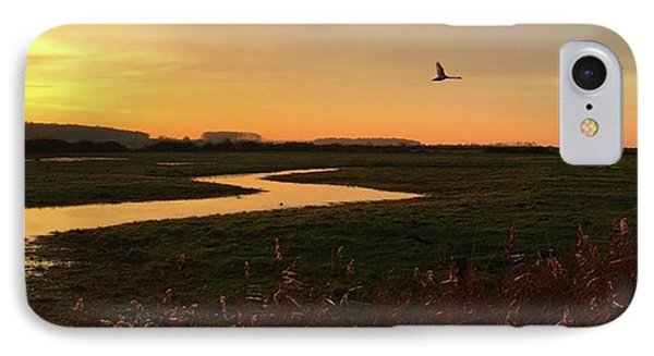 Sunset At Holkham Today  #landscape IPhone Case