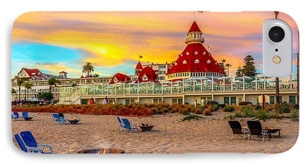 Sunset At Hotel Del Coronado IPhone Case by James Udall