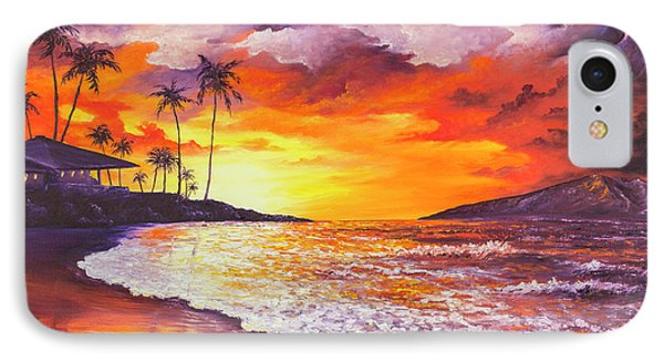 IPhone Case featuring the painting Sunset At Kapalua Bay by Darice Machel McGuire