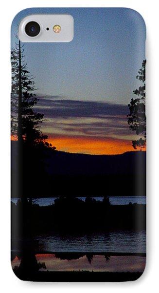 Sunset At Lake Almanor Phone Case by Peter Piatt