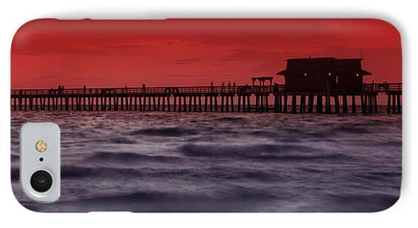 Sunset At Naples Pier IPhone Case by Melanie Viola