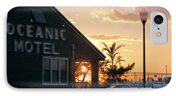 Sunset At Oceanic Motel IPhone Case