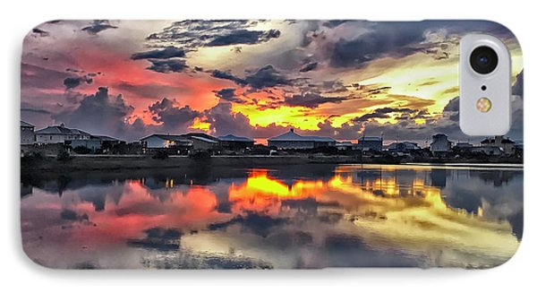 Sunset At Oyster Lake IPhone Case by Walt Foegelle