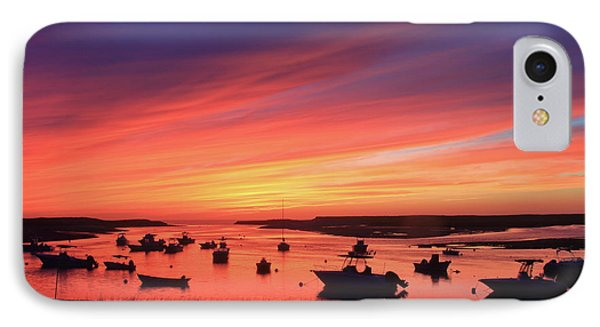 Sunset At Pamet Harbor Cape Cod IPhone Case by John Burk
