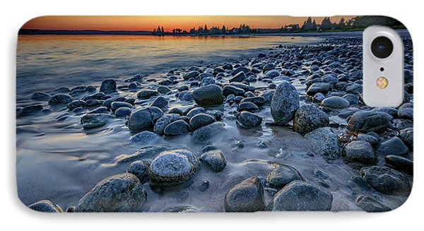 Sunset At Pemaquid Beach IPhone Case by Rick Berk