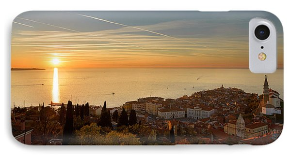 Sunset At Piran IPhone Case