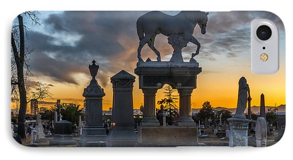Sunset At Riverside Cemetery IPhone Case