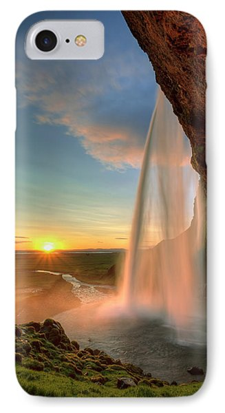 Sunset At Seljalandsfoss Phone Case by Peter OReilly
