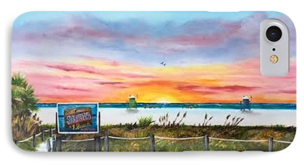 Sunset At Siesta Key Public Beach IPhone Case by Lloyd Dobson