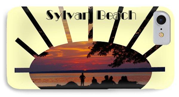 Sunset At Sylvan Beach - T-shirt IPhone Case