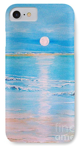 IPhone Case featuring the painting Sunset At The Beach by Teresa Wegrzyn