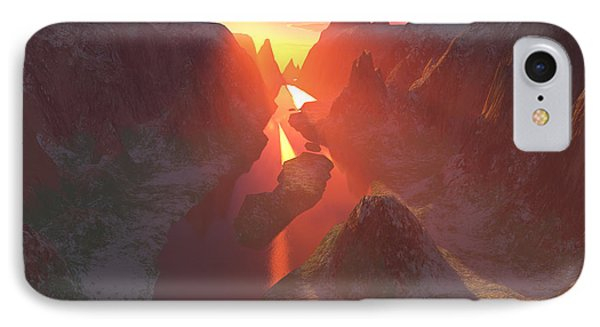 Sunset At The Canyon Phone Case by Gaspar Avila
