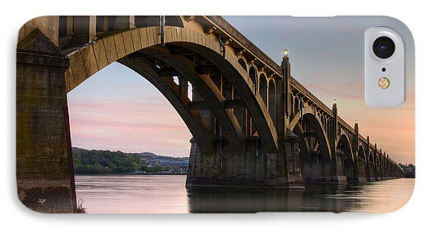 Sunset At The Columbia - Wrightsville Bridge IPhone Case by Dan Myers