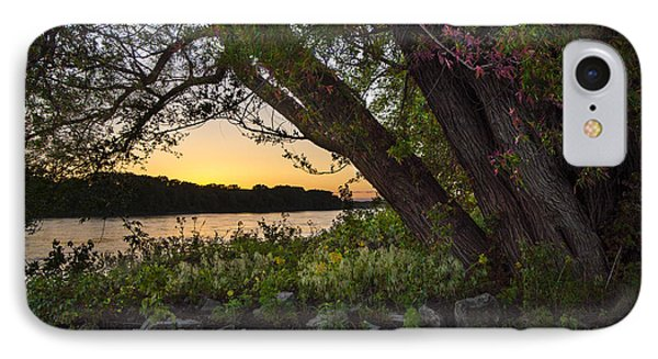 Sunset At The Confluence IPhone Case by Garry McMichael
