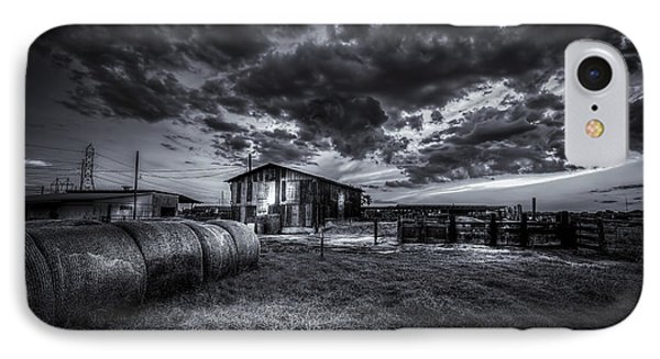 Sunset At The Dairy - Bw IPhone Case by Marvin Spates