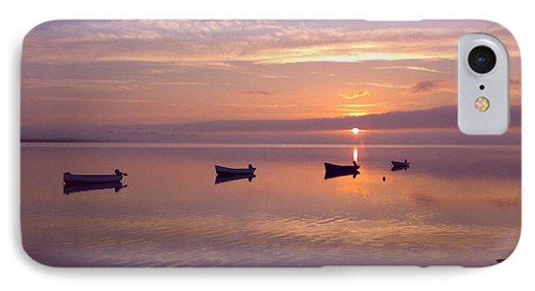 Sunset At The Estuary IPhone Case by Martina Fagan