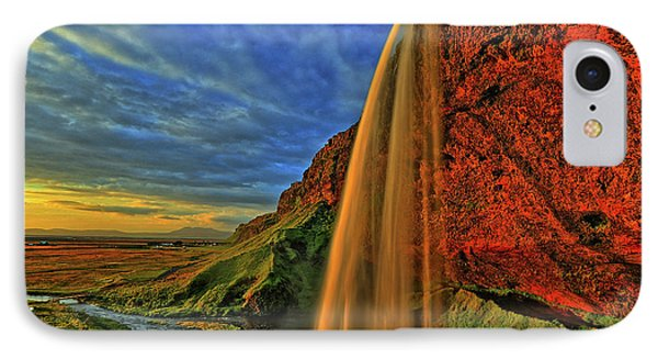 IPhone Case featuring the photograph Sunset At The Falls by Scott Mahon