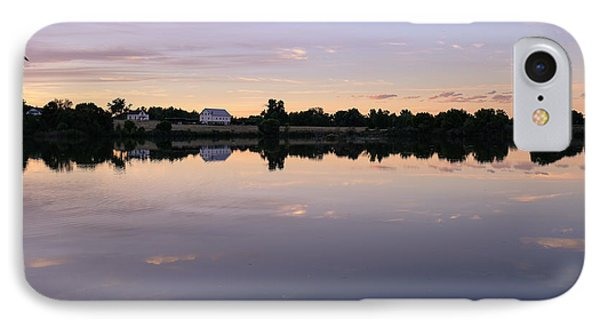 IPhone Case featuring the photograph Sunset At The Farmhouse by Monte Stevens