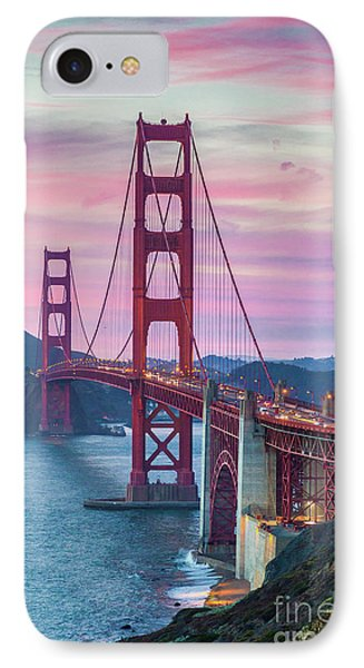 Sunset At The Golden Gate IPhone Case by JR Photography