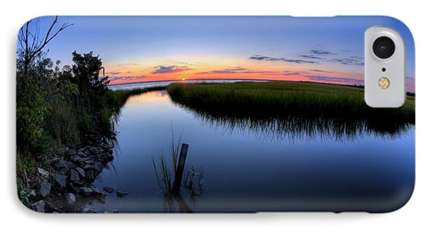 Sunset At The Landing IPhone Case by John Loreaux