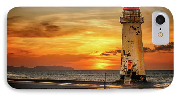 Sunset At The Lighthouse IPhone Case by Adrian Evans