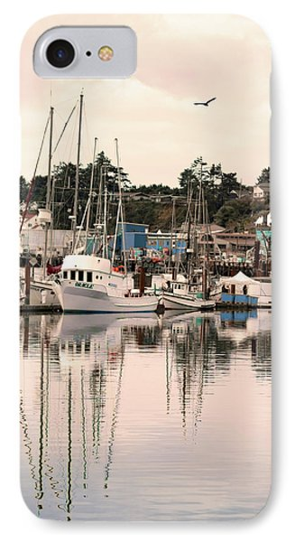 Sunset At The Marina IPhone Case by Diane Schuster