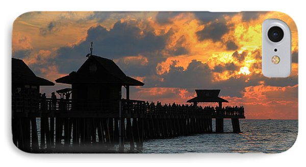 Sunset At The Naples Pier IPhone Case