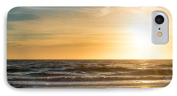 IPhone Case featuring the photograph sunset at the North Sea by Hannes Cmarits
