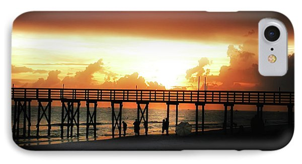 Sunset At The Pier Phone Case by Bill Cannon