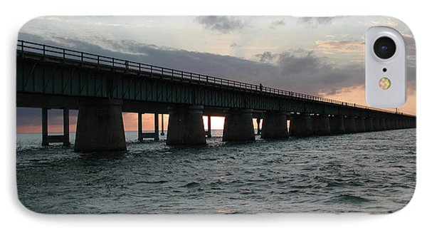 IPhone Case featuring the photograph Sunset At The Seven Mile Bridge by Nancy Taylor