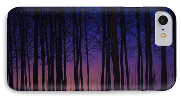 Sunset At The Tree Farm IPhone Case by Jean Noren