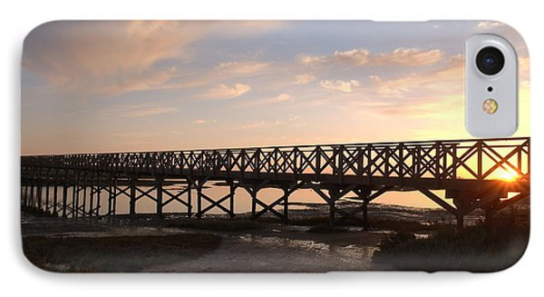 Sunset At The Wooden Bridge IPhone Case by Angelo DeVal