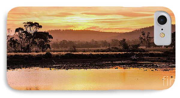 Sunset At Triabunna Tasmania IPhone Case by Lexa Harpell