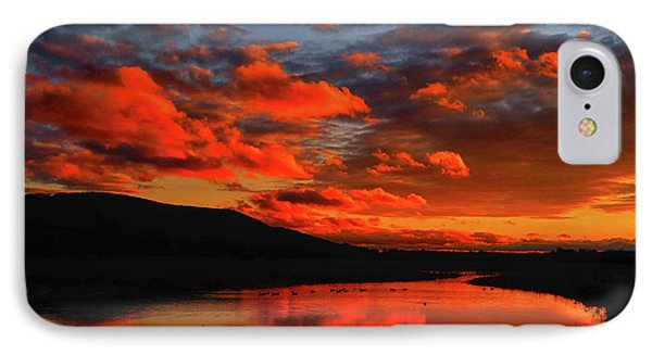 Sunset At Wallkill River National Wildlife Refuge IPhone Case by Raymond Salani III