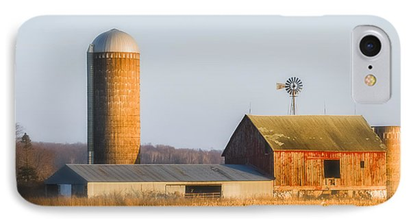 IPhone Case featuring the photograph Sunset Barn by Dan Traun