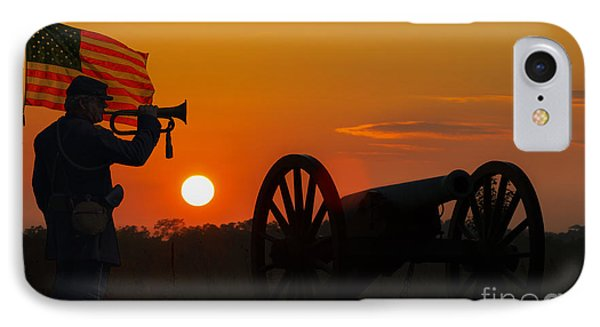 Sunset Battlefield Taps IPhone Case by Randy Steele