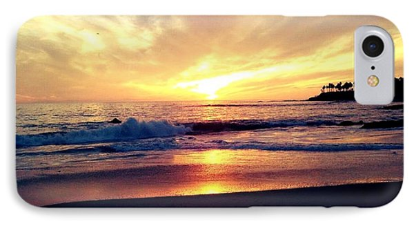 Sunset Beach IPhone Case by 2141 Photography